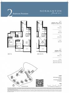 Normanton Park Floor Plan 2BR