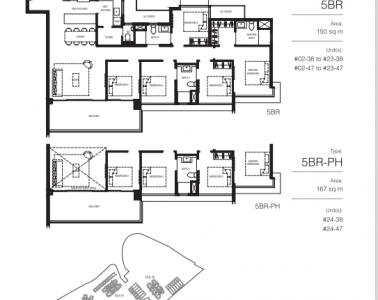 Normanton Park Floor Plan Type 5BR + 5BR-PH